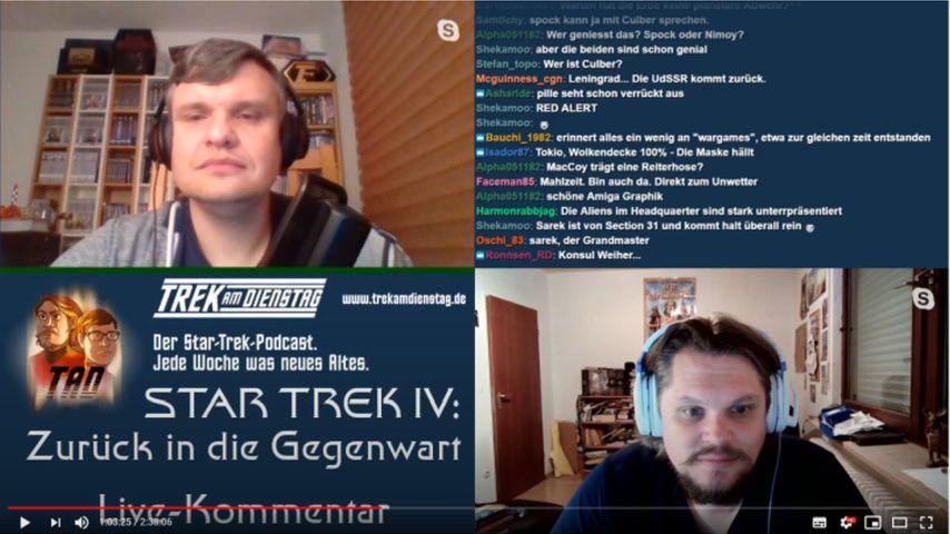 Screenshot aus dem Trek-am-Dienstag-Livestream zu Star Trek IV